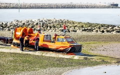 Hovercraft-preparing to launch