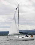 Yacht passing Chanonry point - 1172