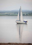 Yacht passing Chanonry point-9118