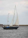 Yacht passing Chanonry point-9153