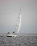 Yacht passing Chanonry point-9170