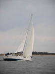 Yacht passing Chanonry point-9173