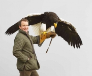 Chris with Steller's Eagle - 0819
